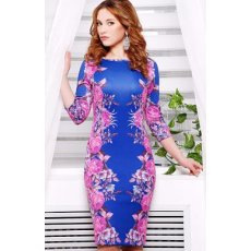 Фиолетовые розы №2 платье Лоя-1 д/р NCG9943