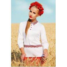 Узор красный блуза Василиса д/р NCG10651