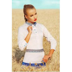 Узор синий блуза Василиса д/р NCG9936