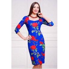Роза синий платье Вики д/р NCG9879