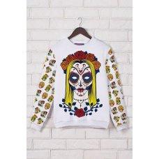 Santa Muerte кофта Свитшот №3 (весна) д/р NCG9577