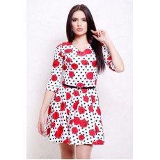 Розы-горох мелкий платье Мая д/р NCG9891