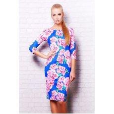Розовые цветы платье Лоя-1 д/р NCG9880