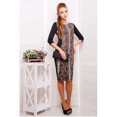 Питон коричневый платье Саламандра д/р NCG9814