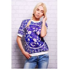 Синий орнамент кофта Свитшот №1 (весна) к/р NCG9914