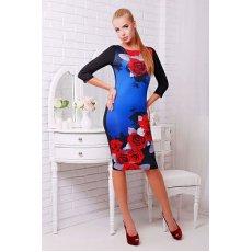 Розы красные платье Лоя-2 д/р NCG9883