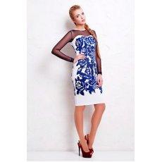 Темно синие розы платье Донна д/р NCG9924
