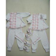 Крестильный костюм девочка 4 предмета интерлок NCL578