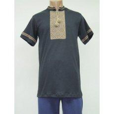 Рубашка мужская вышивка интерлок NCL626