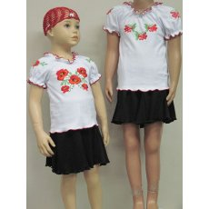 Блуза вышиванка интерлок NCL145