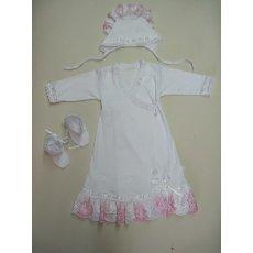 Платье крестильное интерлок,кружево  NCL580