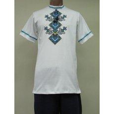 Рубашка мужская вышивка интерлок NCL623