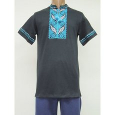 Рубашка мужская вышивка интерлок NCL628