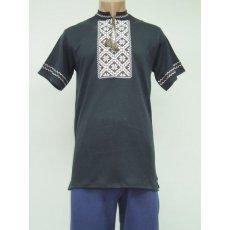 Рубашка мужская вышивка интерлок NCL627
