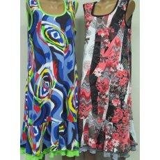 Платье с двойным воланом Реактив NCL352