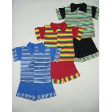 Рубашка+шорты полоска кулир NCL213