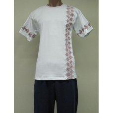 Футболка Орнамент вышивка мужская интерлок NCL611