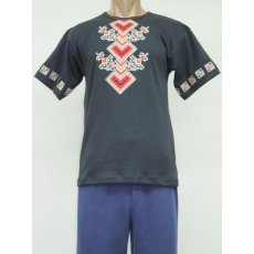 Футболка мужская Сорочинцы вышивка интерлок NCL637