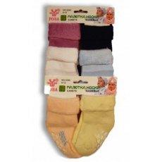 "Махровые носки для младенцев ""Роза"" №3340"