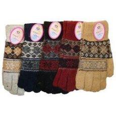 Перчатки подростковые ромб-снежинка
