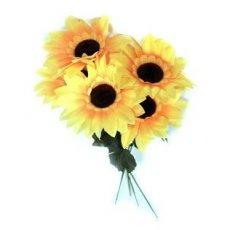 """Искусственные цветы """" Подсолнух """" одиночный"""