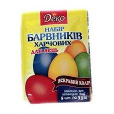 """Набор пищевых красителей для яиц """"Деко"""""""