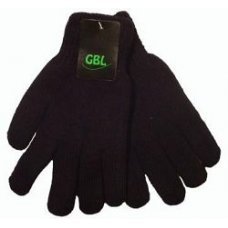 """Перчатки мужские, черные """" GBL """" микс"""