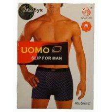 """UOMO """"G-6107"""" бамбук ,боксеры мужские"""