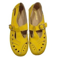 "Мокасины летние "" Zojas Shoes "" А-822 Yellow штучно"