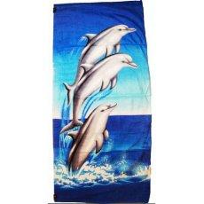 """Пляжное полотенце """" Дельфины """""""