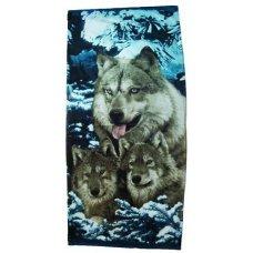 """Пляжное полотенце """" Волки """""""
